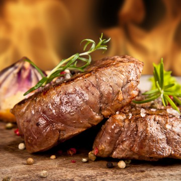 Frozen Beef - Flaming Steak