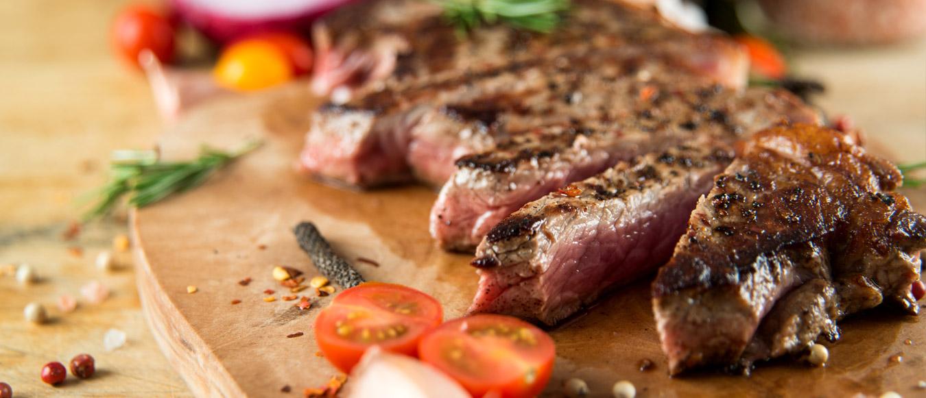 Steak on board Banner