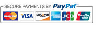 Secure payments by PayPal logo