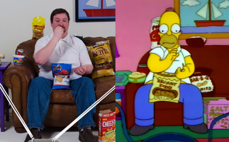 Real-life Homer Simpson Munching
